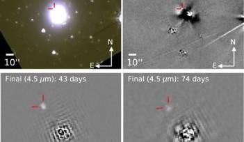 Опубликованы результаты наблюдений слияния нейтронных звезд телескопа Spitzer